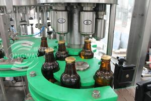 China Pull Ring Cap Glass Bottle Beer  Filling Machine (Washer filler capper three in one unit )100% Factory on sale