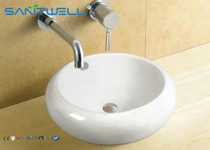 China Western Style Counter Top Wash Basin Antique Bathroom Ceramic Cabinet Sink 500*500*165mm on sale