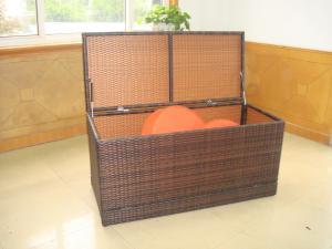 China WF-0954 outdoor rattan storage box waterproof UV resistent on sale