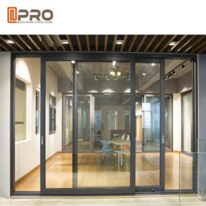 China Powder Coated Aluminium Sliding Glass Doors For Construction Buildings interior door sliding door frame on sale