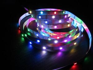China 30 leds per meter APA102 magic RGB color with IC smd low voltage DC5V flexible led strip lights  for decorative use on sale