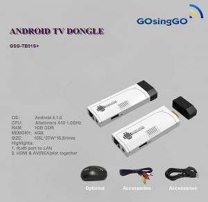 China RJ45 hd tv box / dongle android 4.1.0 on sale
