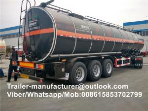 China Widely Used Asphalt Tanker Trailer / Heavy Duty Semi Trailer For Bitumen Tanker on sale