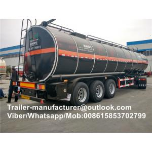 China Widely Used Asphalt Tanker Trailer / Heavy Duty Semi Trailer For Bitumen Tanker on sale