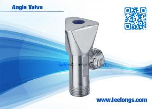 China Toilet Angle Valve Chromed Fits For Braided Hose , Faucet , Water Tap on sale