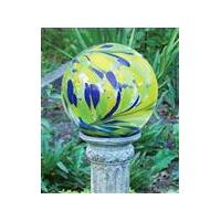 Metal  Blossom Swirl Glass Globe Gazing Ball Stands for Garden decoration