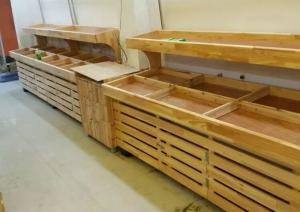 China Furniture Wooden Shelving Units Supermarket Display Gondola Wall Shelving on sale