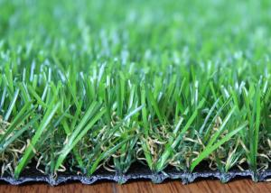 China U Shape 25mm Artificial Grass Landscaping Fire Resistant For Homes Garden Backyard on sale
