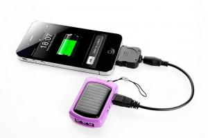 China Solar Powered Cell Phone Battery Charger for Flashlight Torch, Camera, MP3, MP4, PSP, PDA on sale