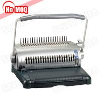 NO MOQ office use manual book binder A4 paper comb binding machine manufacturer