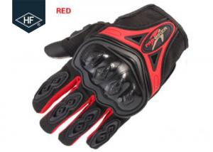 China Riding Aftermarket Motorcycle Accessories Red Blue Touch Finger Full Finger Motorcycle Gloves on sale