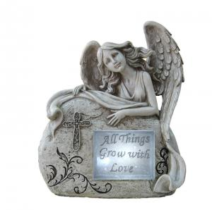 China Customized Classical Angel Love Garden Solar Light Ball For Garden Ornaments on sale