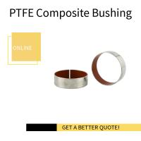 China Stainless Steel Dry Bush Coating Teflon   Valve Bushing on sale