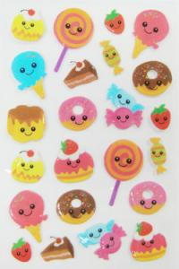 China Promotional Bulk Custom Puffy Stickers For Mobile Phone / MP3 Easy Peel Off on sale