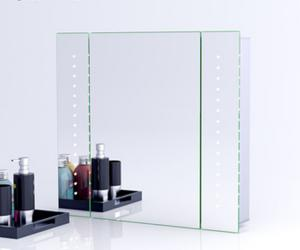 Illuminated Bathroom Mirror Cabinet With Lights And Shaver Socket