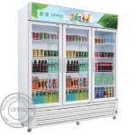 OP-A400 CE Approved Supermarket 1000L Capacity Glass Door Fridge
