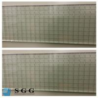 China Excellence quality Safety Building 6mm clear wired glass prices on sale