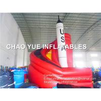 China USA Space Rocket Inflatable Bouncy Slides 0.55mm 18oz PVC Tarpaulin For Commercial on sale
