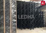 Black Frame Aluminum Square Truss / Trade Show Or Event Truss Light Stand