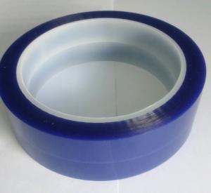 China Economy grade PET Silicone Tape Single Adhesive Side , Blue Adhesive Tape For Spray Masking on sale