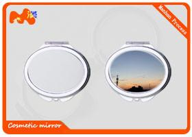 China Customized Sublimation Compact Mirror For Promotion Gift / Business Gift on sale