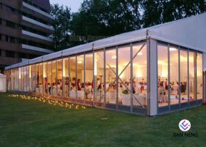 China Glass Sidewall Aluminium Frame Tent Fashionable Style 500-700 People Capacity on sale