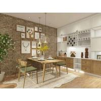 Quartz Stone Countertop Standard Kitchen Cabinets With Solid Wood Frame
