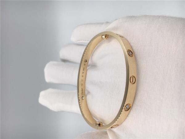 4 diamond cartier jewelry love bracelet 18k yellow gold b6035917 images