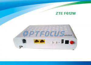 China Interface GPON EPON ONU FTTH Mode F612W 12 V DC -5dBm Wifi 10 / 100 / 1000 Base-T on sale