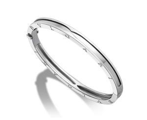China Jewelry Factory Make White Gold Bangle Authentic Bvlgari Bzero1 Bracelets BVLGARI-BR857412 on sale