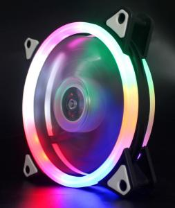 OEM Dual Ring RGB Case Fan 12cm with Programmable Rainbow LED Light
