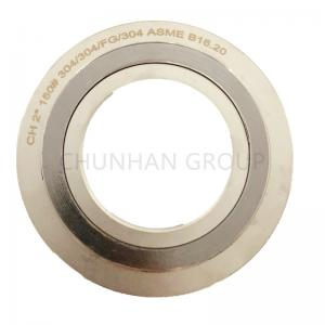 China High Temperature Spiral Wound Ss304 4.5mm Metal Ring Gasket on sale