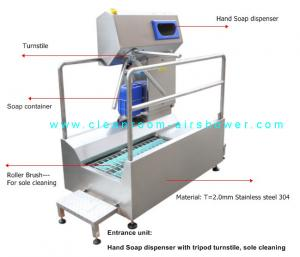 China Passage Boot Sole Washer , Sole Cleaning Machine For Entrance Unit In Food Workshop on sale