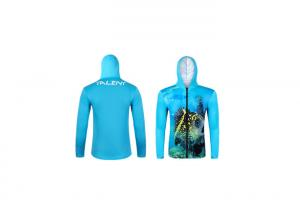 China 100% Polyester Light weight breathable Sublimated Fishing Jerseys / Long Sleeve Dri Fit Fishing Shirts on sale