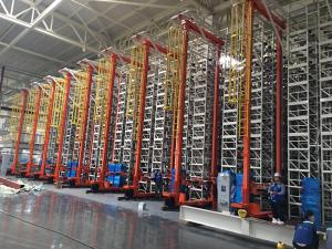 China AS/RS Material Handling System  Logistics Stacker Crane  Automated Storage and Retrieval System Warehouse Racking on sale