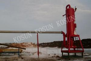 China 180 - 220 m3 / h capacity , reasonable flow, big disposal capacity Liquid Gas Separator on sale