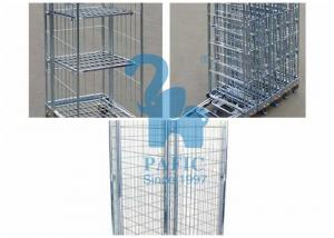 China Funky Wire Mesh Storage Cabinets Warehouse Roll Cages For Industry Places on sale