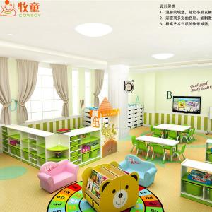 Pre School Furniture Sets Daycare Kids Wooden Table And Chairs For