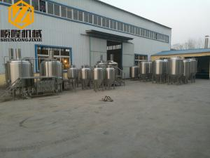 China 5HL Microbrewery  Beer Brewing Equipment , automated beer brewing system with data acquisition on sale