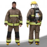 Para Aramid Fireman Suit Custom Color FR Zipper Front Closed With Tool Packet