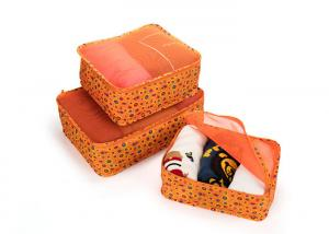 China Water Resistant Travel Organizer Bag Nylon 3pcs Set Packing Cubes Shape With Zipper on sale