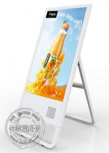 China Portable Network LCD Advertising Player Kiosk 32 Inch With Sturdy Triangulated Base on sale