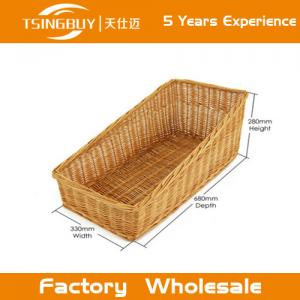 China Factory wholesale high quality 100% nature handcraft bread basket rattan wicker bread baskets on sale