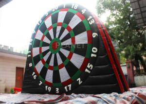 China Customized Inflatable Foot Dart Board Logo Printing With Sticky Balls on sale