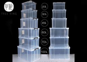 China Transparent Really  32 liters Clear Useful Boxes(R) Plastic Storage Box, 11in.H x 14in.W x 19.3 in.D on sale