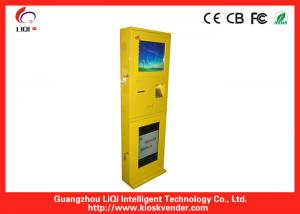China Steel LCD TFT Wall Mounted Kiosk Advertising For Queue Management on sale