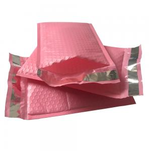 China 9x12 Hot Pink Self Seal Poly Bubble Mailers Wrap Padded Plastic Courier Bag on sale