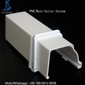 China Hot Selling Good Quality Custom Plastic Gutter, Roof PVC Gutter System, Cheap PVC Rain Gutter on sale