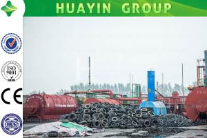 China HUAYIN Size D2600*L6000 Tyre/Plastic TO Fuel Oil Pyrolysis Plant on sale
