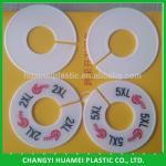 Accept trial order plastic hanger size marker